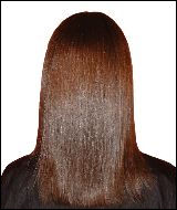 Glossy, smooth, shiny straight hair