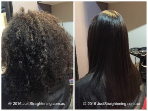 Japanese Permanent Hair Straightening Before and After